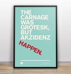 Typographic Joke Posters :: Akzidenz Happen