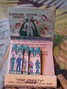 Cloverland Dairy Matchbook