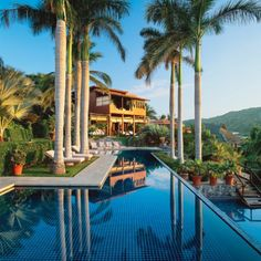 Tropical Island Villa in Ixtapa, Mexico. Marco Aldaco is a very famous Mexican architect. Very nature-friendly!