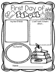 First day of school activities: Back to school worksheets