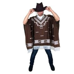 Fancy Dress Mexican Western Wild West Cowboy Poncho for Clint Eastwood Nights in Clothes, Shoes & Accessories, Fancy Dress & Period Costume, Fancy Dress Mexican Fancy Dress, Wild West Costumes, Mexican Costume, Mexican Party, Western Wild, Wild West Cowboys, Halloween Fancy Dress, Brown Fashion, Dress First