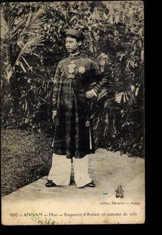 Hué Annam Vietnam, Empereur dAnnam en costume de ville CP Dieulefils