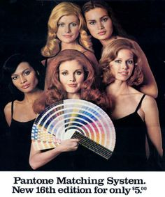 This Pantone ad is from the '70s