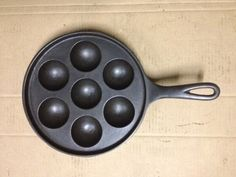 Antique Cast Iron Muffin Egg Pancake Skillet Pan Griddle