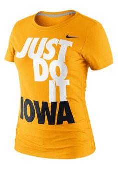 "Iowa Hawkeyes Womens Nike Gold ""Just Do It"" T-Shirt"