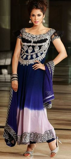 401822: Actress Isha Koppikar's festive wear anarkali collection. #partywear #indiandress