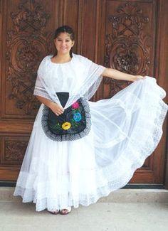 Girl in traditional dress of Veracruz, MEXICO.