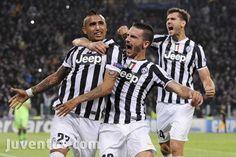 Juventus vs Real Madrid - UEFA Champions League - esultanza Vidal Bonucci