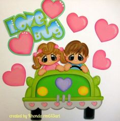 Love Bug boy/girl paper piecing set premade scrapbook page album-Rhonda rm613art
