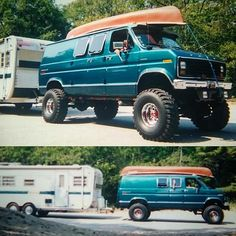Big Monster Trucks, Big Trucks, Ford Trucks, Lifted Van, Old School Vans, 4x4 Van, Chevy Van, Vanz, Cool Vans