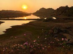 Lake sunrise  #travelingram #sunrises #hampi #sun #sunriselovers #sunrays #sunriseporn #sunrise_sunsets_aroundworld #instagood #picoftheday #flowers #instatravel #photooftheday #sunriseavenue #l4l #hippie #nomad #traveling #sunrisesunset #lake #stones Sunrise Lake, Hampi, Sun Rays, Sunrises, Traveling, Stones, Flowers, Instagram Posts, Outdoor