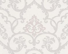 Off-White-Cream-Flock-Effect-Damask-Wallpaper-with-Beige-Motif