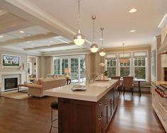Open Concept Kitchen And Family Room | Re-Inventing The Living Room