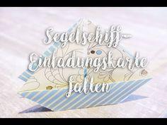 Kommunions- Einladungskarte Faltschiff { Videoanleitung }   *ZAUBERPUNKT*   Bloglovin'
