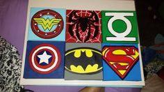 6 6x6 Superheroes Canvases