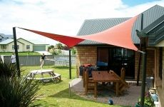Shade sail for the BBQ - Fabric Architecture