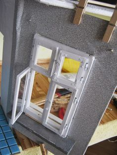 Miniature working windows with hinges and latches tutorial