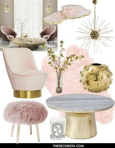 Home Decor Trends - Blush Pink Art Deco