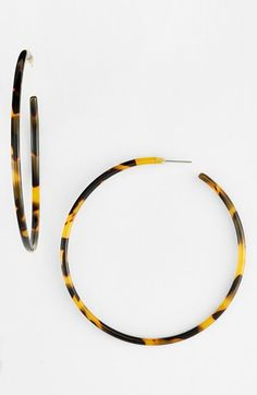 L Erickson 'Jumbo' Hoop Earrings | Nordstrom