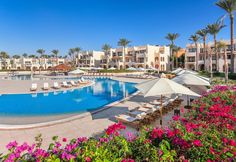 Spend the day relaxing on Cleopatra Luxury Resort Sharm El Sheikh's private sand beach or at a marina before returning for a meal at one of the resort's 4 restaurants. #Sharm #Travel #Holidays
