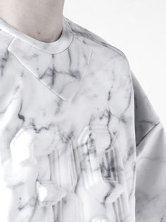 JUUN J neoprene embossed marble printed pullover Fashion Details, Fashion Design, Fashion Trends, Juun J, Castle Project, Marble Print, Vogue, Marble Pattern, Fabric Manipulation