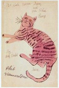 Pink - Cat - Andy Warhol