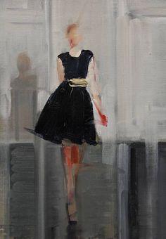 "Saatchi Art Artist: Fanny Nushka Moreaux; Oil 2014 Painting ""Black Tulip, 2014"""