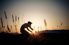 Sunset mountainbiking in Slovakia/ Jazedenie na horskom bicykli pri západe slnka na Slovensku.