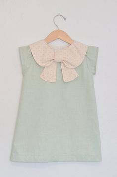 Mint Big Collar Bow Dress