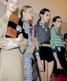 Behind-the-scenes at Prada during Milan Fashion Week. Photographed by Kevin Tachman.
