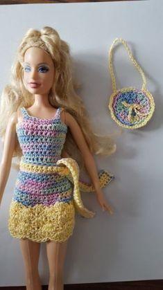 Barbie-Doll-Clothes-Crochet-New-Handmade