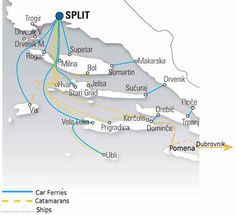 How to island-hop in Croatia using local ferries, cars and buses with suggested itineraries Rijeka to Zadar and Split to Dubrovnik.