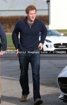 Prince Harry attends a track day at Goodwood Motor Circuit in West Sussex, United Kingdom. Saturday, 15th February 2014. Picture by Stephen ...