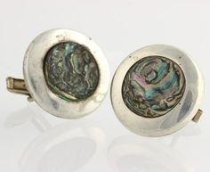 Abalone Cuff Links  Sterling Silver Alpaca by WilsonBrothers
