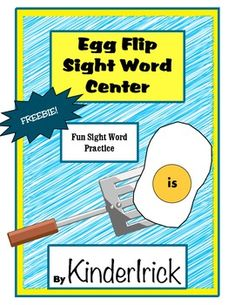 Practice+sight+words+in+this+fun+center.++Kids+use+a+spatula+to+flip+eggs.++They+read+the+word,+find+the+match,+then+right+the+word.++It's+great+practice+and+the+kids+love+it!