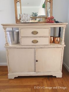 D.D.'s Cottage and Design: Rolling Cart-from Drab to Fab!