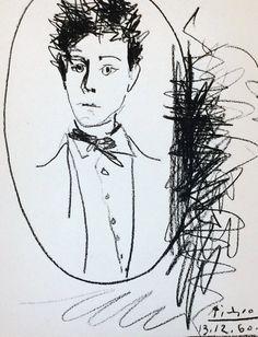 Portrait D'Arthur Rimbaud 1960 by Pablo Picasso