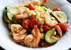 Summer Stir Fry: tantalizing flavors reminiscent of summer. This light dish is a favorite of mine to make for dinner in the summer. It tastes fresh and looks colorful. If you need an escape from the cold weather, this recipe brings back warm, sunny feelings.