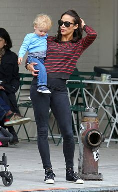 Julian Thicke - Paula Patton And Son Julian Out For A Stroll In New York