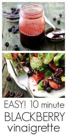 Easy Blackberry Vinaigrette | eat healthy eat happy
