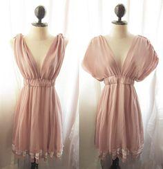 River of Romansk Blush Dusty Pink Rose Kimono Dress