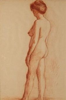 View Female Nude Study By John Luke; Access more artwork lots and estimated & realized auction prices on MutualArt. John Luke, Nude, Female, Artwork, Work Of Art, Auguste Rodin Artwork, Artworks, Illustrators