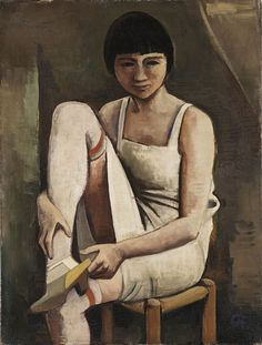 1925 MARTHA, by Karl Christian Ludwig Hofer aka Carl Hofer (German, 1878~1955) was a German expressionist painter. One of the most prominent painters of expressionism, he never was a member of one of the expressionist painting groups, like 'Die Brücke', who influenced him.