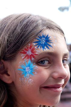 The fourth of July was celebrated while we were in Destin. Our day started off a little.well, off. Visions of a . Fourth Of July Decor, 4th Of July Decorations, July 4th, Face Painting Designs, Body Painting, Blue Face Paint, St Jean Baptiste, Kids Makeup, Blue Birthday