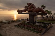 "Sunset at El Beso (the kiss) in the ""Parque del Amor"" (Love Park) on the Pacific Ocean in Lima Peru. #peru #lima #sunset #pacific #artofvisuals #athomeintheworld #awesome_earthpix #awesome_photographers #awesomeearth #awesomeglobe #TLPicks #bestplacestogo #discoverglobe #exploretocreate #fantastic_earth #ItsAmazingOutThere #livetravelchannel #nakedplanet #natgeotravel #ourplanetdaily #passionpassport #stayandwander #travelawesome #travelingourplanet #wonderful_places #bbctravel"