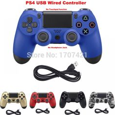 PS4 Controller Wired Gamepad For Playstation Dualshock 4 Joystick Multiple Vibration with 2M USB Cable  Price: 13.00 & FREE Shipping  #tech|#electronics|#home|#gadgets Buy Ps4, Ps4 Controller, Pc Computer, Consoles, Playstation, Usb, Free Shipping, Electronics, Console