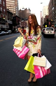 the best feeling ever... holding all those bags <3