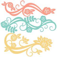 Flower Flourishes SVG scrapbook cut file cute clipart files for silhouette cricut pazzles free svgs free svg cuts cute cut files