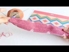 Tapestry Crochet Cosmetic Bag made with Fair Cotton