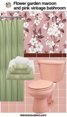 11 ideas to decorate a burgundy and pink bathroom maroon for Maroon bathroom ideas
